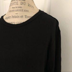 Bobeau brand women's black 3/4 sleeve blouse. EUC
